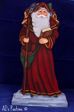Wood Santa Claus tole painting for Christmas at by AJSPASTIME, $55.00