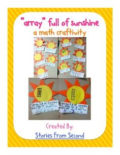Arrays Full of Sunshine {a multiplication math craftivity} $product
