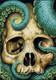 """Tentacle Skull"" by Voss Fineart."