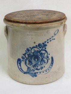 Stoneware crock signed Adam Caire Po'keepsie NY