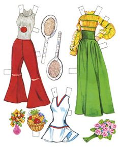 this brought me straight back to my childhood...playing with my paper dolls as a little girl makes me smile