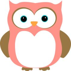 cute owls | Pink and Brown Owl Clip Art Image - pink and brown owl with orange ...