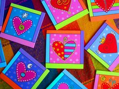 Corazón Corazoncito Valentines For Mom, Valentine Day Crafts, Decoupage, Birthday Tags, Mini Canvas, Painted Pots, Little Boxes, Tole Painting, Box Frames