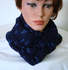 Neckwarmer  Cowl Scarf Snood Knit Chunky Knit by MermaidsHatbox