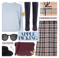 """""""Harvest Time: Apple Picking"""" by anyasdesigns ❤ liked on Polyvore featuring Tory Burch, Prada, Maryam Nassir Zadeh, Little Liffner, Burberry and Topshop"""