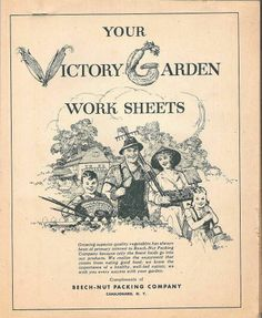 Your Victory Garden Work Sheets