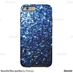 Beautiful Blue sparkles Tough iPhone 6 Case (686.910 IDR) ❤ liked on Polyvore featuring accessories, tech accessories, phone and sparkle