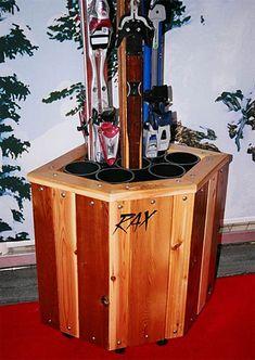 RAX Corner Ski Storage Rack - Holds 8 Pair of Skis Sports Equipment Storage, Camping Equipment, Corner Storage, Storage Racks, Garage Storage, Pet Storage, Garage Organisation, Basement Storage, Ski Rack