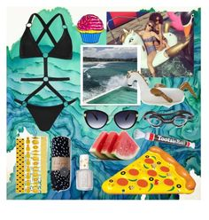 """Pool Floaties"" by celynr ❤ liked on Polyvore featuring Kendall + Kylie, Retrò, Oscar de la Renta, The Beach People, Essie, taylorswift, pool, poolfloats and kylieandkendalltopshop"