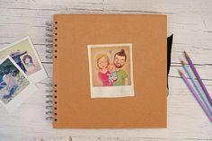 Album fotografico con ritratto polaroid