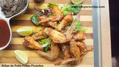 Sergio Benito Recetas: Receta de Alitas de Pollo Fritas Picantes/3 Salsas para Acompañar/Un Aperitivo de 10 ideal para el Verano