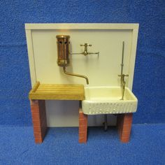1/2th scale Dolls House Stone Sink with water heater and Drainer DHD67   eBay