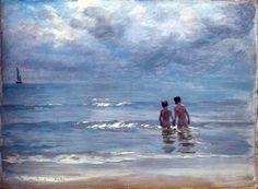Peder Severin Krøyer - Chicos bañados en el mar de Skagen