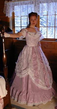 lovely lilac ball gown by Recollections.