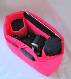 Small DSLR Camera Bag Insert   2 Lens by Martilena, $35.00    Her inserts are very cushy.  They let you turn your favorite purse or tote bag into a camera bag.
