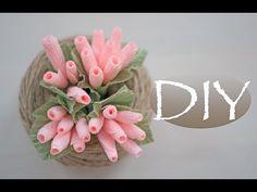 Цветочки-ягодки из бумаги и букет к 8 марта DIY Tsvoric - YouTube