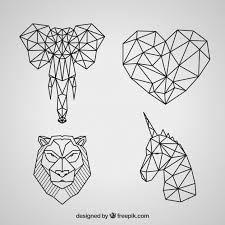 Resultado De Imagen De Dibujo Animales Geometricos Geometric Animal Tattoo Geometric Animals Geometric