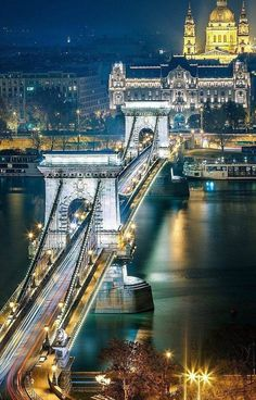 Budapest, Hungary, cities at night Places To Travel, Places To See, Places Around The World, Around The Worlds, Capital Of Hungary, Budapest Travel, Night Photos, Night City, Nature Photos