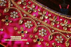Kids Blouse Designs, Simple Blouse Designs, Bridal Blouse Designs, Blouse Neck Designs, Hand Embroidery Dress, Embroidery Works, Magam Work Blouses, Mirror Work Blouse Design, Pattu Saree Blouse Designs