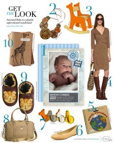 CeciStyle Magazine v64: Get The Look - Baby Mason - Surround Baby in a playful, safari-themed wonderland