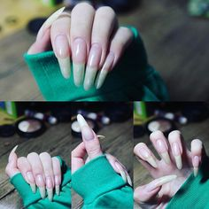 - Best ideas for decoration and makeup - Perfect Nails, Gorgeous Nails, Pretty Nails, Nails Only, Love Nails, Real Long Nails, Long Natural Nails, Long Fingernails, Nail Growth
