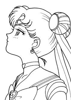 Sailor Moon Tattoos, Sailor Moon Art, Sailor Moon Crystal, Moon Sketches, Art Drawings Sketches, Sailor Moon Coloring Pages, Coloring Book Pages, Anime Lineart, Moon Drawing
