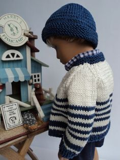 Nautical-themed-Cardigan-and-Watchmans-Hat-for-Gregor-Sasha-Doll