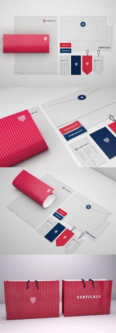 Packaging design and identity | Verticals – identité d'une marque de vêtement - Robinsson Cravents (Colombie)