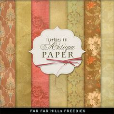 Far Far Hill - Free database of digital illustrations and papers: Freebies Antique Paper Kit Printable Scrapbook Paper, Printable Paper, Scrapbook Cards, Free Digital Scrapbooking, Digital Scrapbook Paper, Digital Papers, Scrapbooking Freebies, Digital Paper Freebie, Far Hills