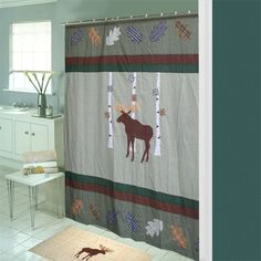 Patch Magic Moose Shower Curtain and Bath Mat Set - CZMOOS. Is $91 too much for a shower curtain?