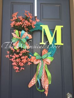 A personal favorite from my Etsy shop https://www.etsy.com/listing/275629220/monogram-wreath-summer-wreath-spring
