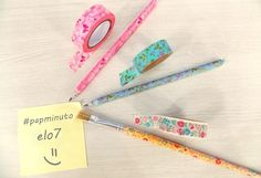 #papminuto: renove os lápis com washi tape - Blog do Elo7