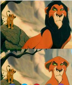 Scar without a mane looks just like Sira in Simba's Pride (lion king 2)