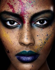 Paint-Splattered Close-Ups - The Bella Simonsen Photoshoot Experiments with the Human Canvas Tumblr Photography, Beauty Photography, Fashion Photography, Photography Ideas, Make Up Inspiration, Photoshoot Inspiration, Photoshoot Ideas, Kreative Portraits, The Wicked The Divine