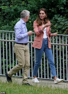 Casual Kate! Duchess of Cambridge dresses down in a £1,795 Chloe blazer and her favourite £90 Veja trainers on a visit to London's Natural History Museum