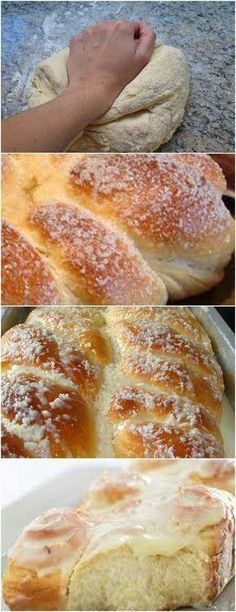 Cooking Chocolate, Pan Dulce, Croissant, Sweet Bread, Food Menu, Bread Recipes, Sweet Recipes, Breakfast Recipes, Bakery