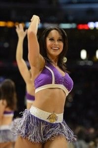 It's pretty simple. Each day we bring our fans a look at cheerleaders from around the country. Up today, the Laker Girls.