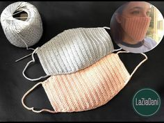 MASCHERINA ALL'UNCINETTO CON SCHEMA - YouTube Crochet Mask, Crochet Hooks, Dou Dou, Lace Patterns, Diy Face Mask, Knitting Needles, Knitted Hats, Diy And Crafts, Winter Hats
