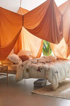 Canopy Bed Curtains, Canopy Bedroom, Room Ideas Bedroom, Bedroom Decor, Bed Canopy Diy, Curtains Around Bed, Canopy Over Bed, Ceiling Canopy, Canopies