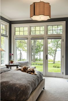 With all these windows, I would have this as a study/home office. Bedroom Transom Doors Transom windows.