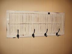 repurposed wood shutter .
