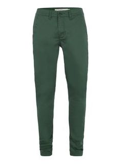 Green Stretch Slim Chinos