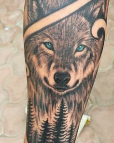 Wolf tattoo by Naina Jain Chandani SKIN MACHINE TATTOO STUDIO | BHOPAL } INDIA @skinmachinetattoo Email for appointments: skinmachineteam@gmail.com