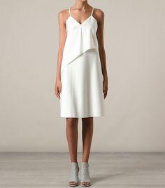 3.1 Phillip Lim Sash Slip Dress featuring a v-neck, spaghetti straps and draped details