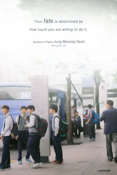Sermons of Pastor Jung Myeong SeokYour fate is determined by how much you are willing to do it. - Mannam&Daewha, Pastor Jung Myeong Seok, Christian Gospel Mission