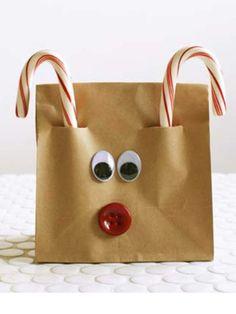 Easy brown bag Reindeer.