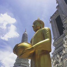 The path you're on this very moment is going somewhere good. Places In Bangkok, Buddha, Thailand, In This Moment, Statue, Photo And Video, Instagram, Sculptures, Sculpture
