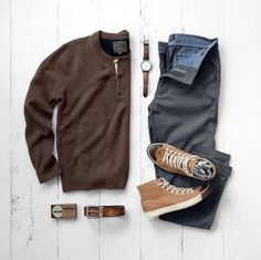 b413e25c Sweater: Jachs NY // Chinos: Jachs NY // Sneakers: Colchester Rubber Co. //  Watch: Fossil (similar) // Belt: Fossil // Socks: American Trench //  Cologne: ...