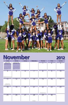 Norwalk High School Cheerleading Team's calendar showcases their dynamic spirit squads. #school #fundraising #calendar  www.yearbox.com