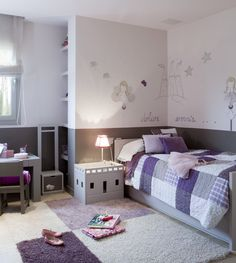 children`s room-Grey's with purples
